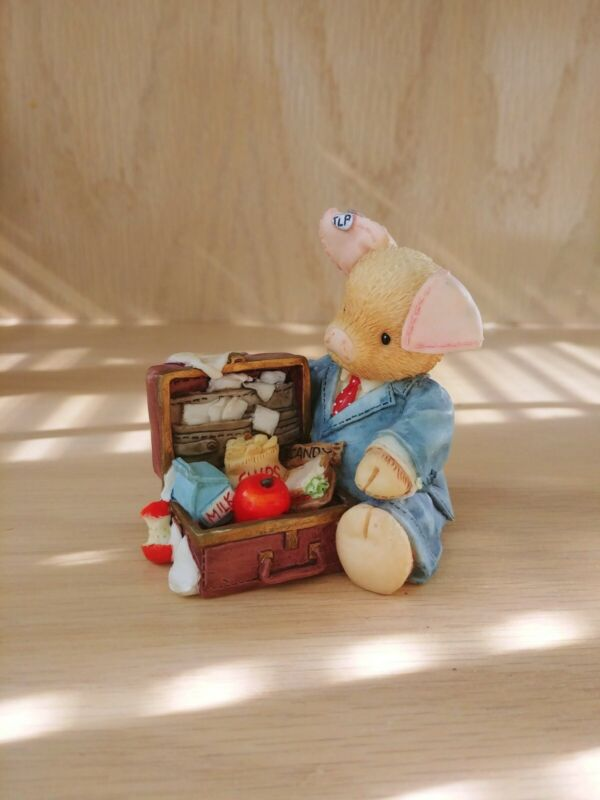 "This Little Piggy Figurine ""Pig Business"" Enesco 1995"