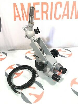 Carl Zeiss Opmi 1 Surgical Microscope W F400 Lens Fiberoptic Cable