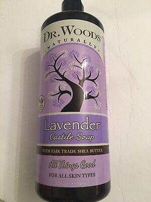 Lavender Castile Soap with Shea Butter by Dr. Woods 32 Ounces - Lavender Butter Soap