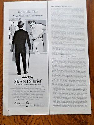 1961 Jockey Briefs Underwear Ad  Jockey Skants Brief