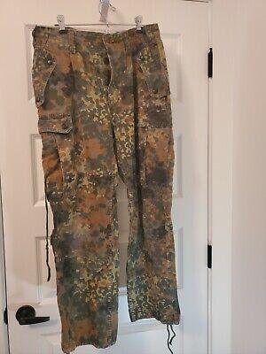 W. German Flectarn field uniform, Pants, Shirt and Triangle Cravat, used.