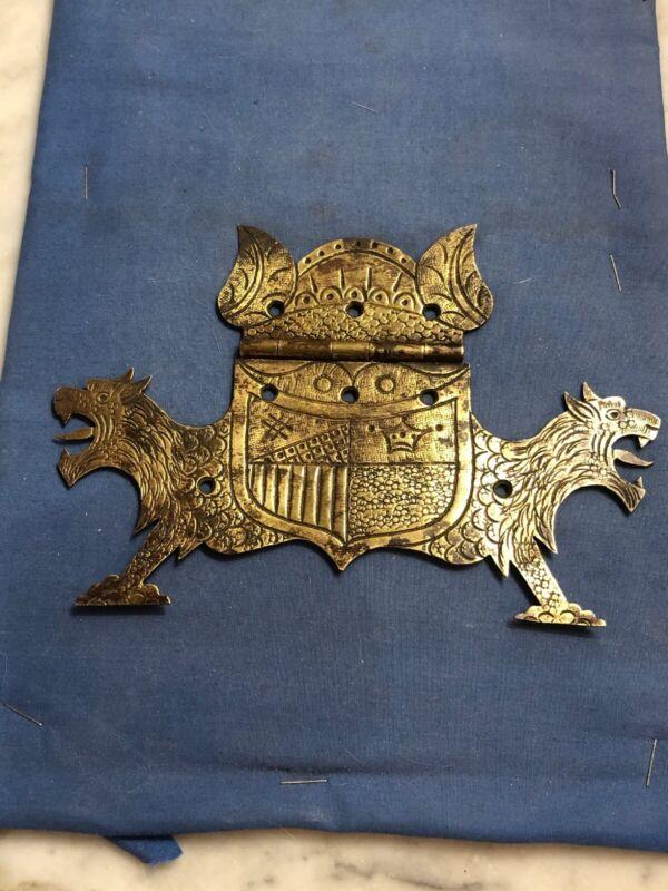 Antique Ornate Handmade Hinge Brass
