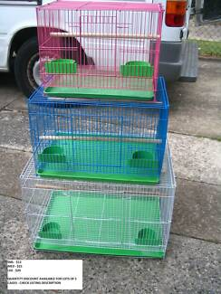 NEW SQUARE BIRD CAGES- FROM $12 EACH- 3 SIZES & COLOURS-READ AD!!