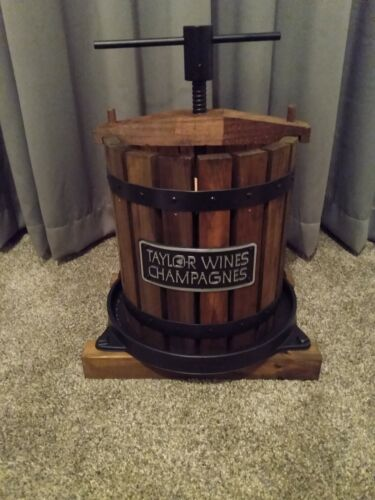 Taylor Wooden Wine Press Display Decor