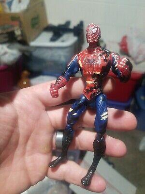 2007 Marvel Hasbro Spiderman 3 Movie Battle Damaged Symbiote Change Action...