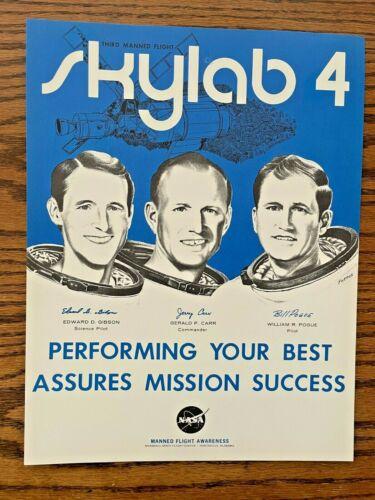 1973 NASA Manned Flight Awareness SKYLAB 4 Mission Success Crew Poster 8.5 x 11