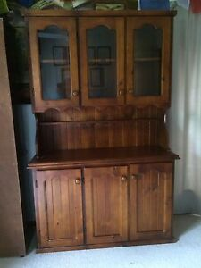 Timber display cabinet/ buffet Cashmere Pine Rivers Area Preview