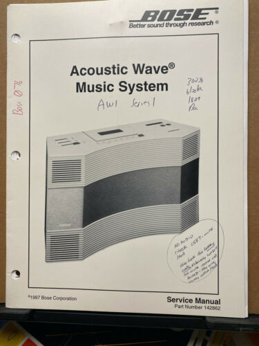Original Service Manual for the Bose Acoustic Wave Music System 1997 Schematics