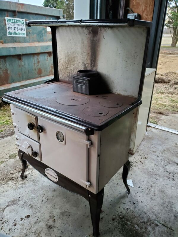 ANTIQUE VINTAGE WATERFORD STANLEY WOOD COAL BURNING KITCHEN COOK STOVE
