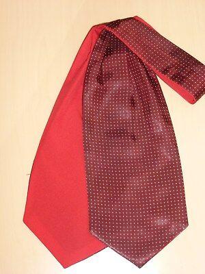 Vintage Ascot Reversible Polkadot Cravat Scarf Dapper Mod Indie Goodwood 60's 70