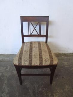 D18053 Vintage Marquetry Detail Chair