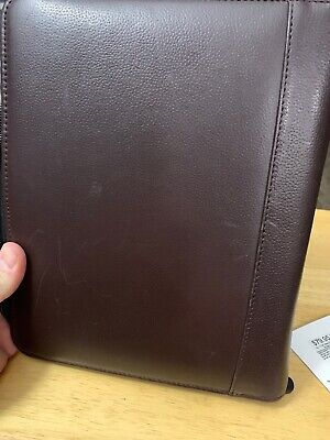 Franklin Covey Brown Top Grain Cowhide Leather Planner Binder - Cl12215 Usa