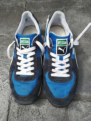 CLASSIC Used Blue/white PUMA Easyrider III Trainers In OK condition Size 9 / 43