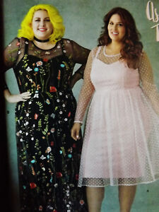 Simplicity 8471 Ashley Nell Plus Size Misses Dress Sewing Pattern Size 26W-34W