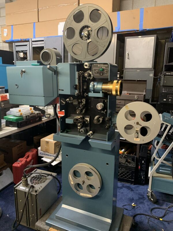 35mm film projector by Universal Projector Co, with changeover by Zipper