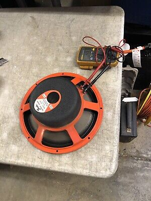 "Fender JBL D120F 12"" Guitar Amplifier Speaker 8 Ohm Orange basket - CLEAN!"