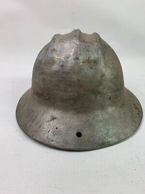Vintage E.d. Bullard Co. Hard Boiled Aluminum Hard Hat Original Liner S.f. Usa