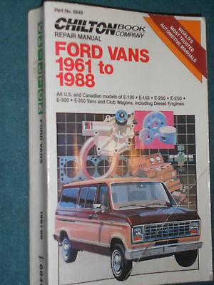 1961-1988 FORD VAN SHOP MANUAL 87 86 85 84 83 82 79 78 77 76 75 74 73 72 71 70++