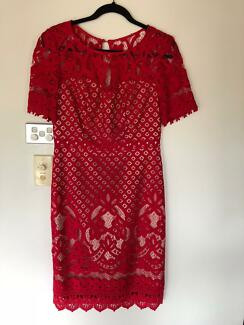 Review Devotion Dress in Red - Brand new