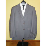 $1295 new Jos A Bank Signature Gold grey check pattern suit 44 R 38 W