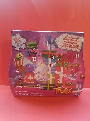 Dreamworks Trolls Advent Holiday Countdown 12 Days of Toy Surprises Calendar