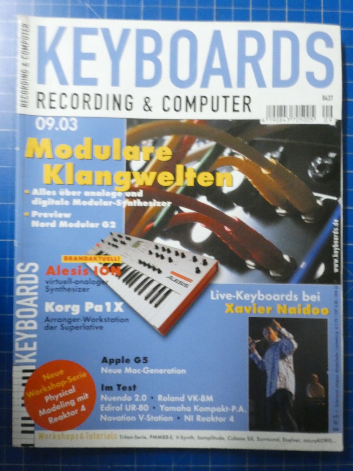 KEYBOARDS Recording & Computer September 2003 Xavier Naidoo To836