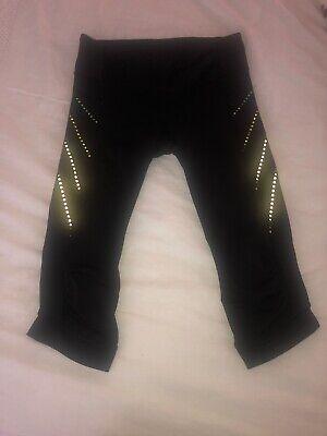 Lululemon Run Inspire Crop Capri Pant Black Luxtreme Zip Pocket Size 6
