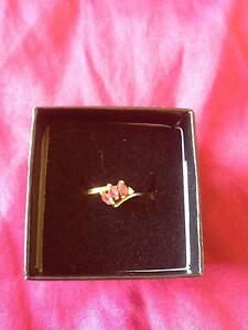 9Kt Gold Natural Ruby & Diamond Ring Size 6 or 7 Melbourne CBD Melbourne City Preview