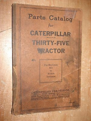 Cat 35 Caterpillar Thirty-five Tractor Parts Catalog Rare Parts Book Manual