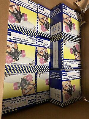 Size Large Honeywell North 7700 Series Silicone Half Mask Silicone Respirator