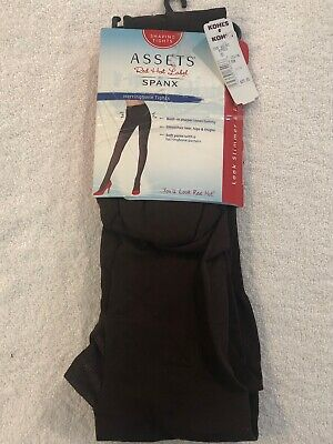 SPANX Assets Red Hot Label Spandex SHAPING TIGHTS Brown Size 3 NIB Retail $20 Spanx Spandex Tights