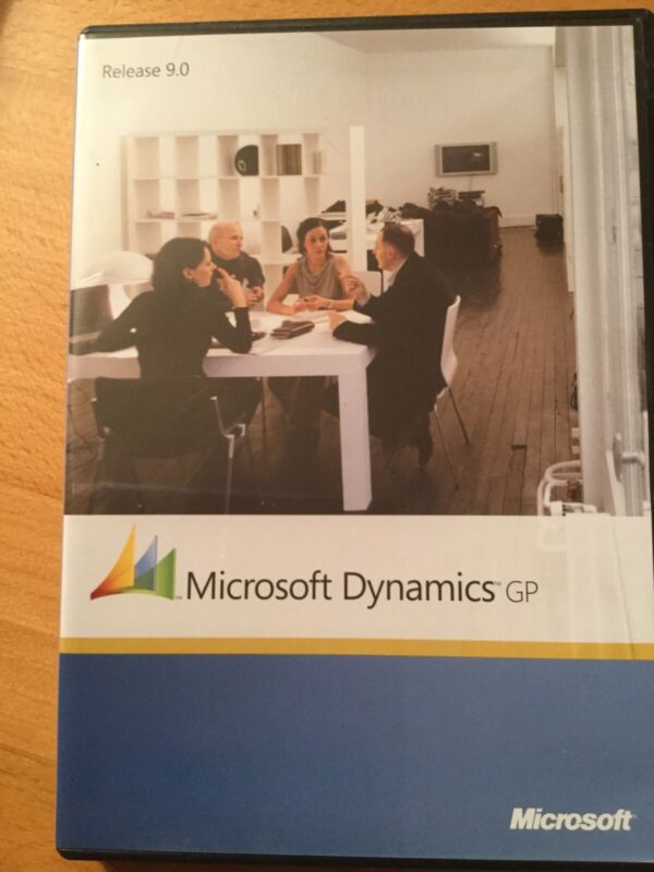 Microsoft Dynamics GP. Release 9. CDs And Case And Doc. NEVER USED