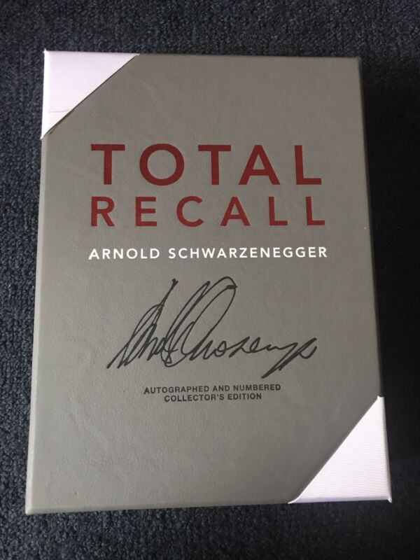 Arnold Schwarzenegger Signed Autograph Book Total Recall 1st Edition 664-1000