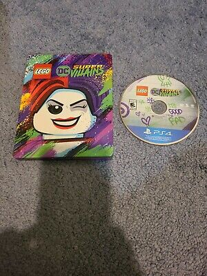 LEGO: DC Comics Super Villains USED (PlayStation 4, 2018) PS4 steelbook