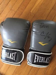 Signed MMA gloves (Dana White, GSP, and Chris Lytle)