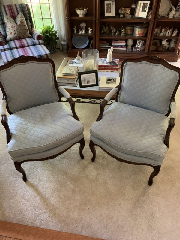 1970s Henredon Louis XV Style Arm Chairs-a Pair