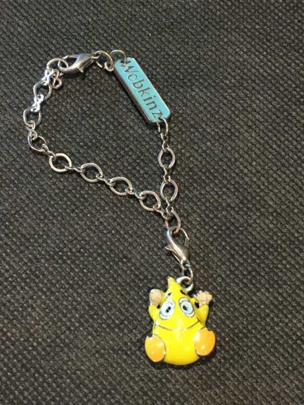Webkinz Collectible Puffy Enamel Charm Wacky Zingoz with Bracelet