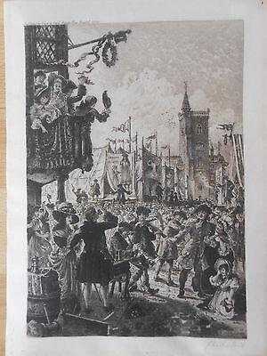 Charles Bird Bristol : St. James Fair 1780 Radierung von 1896 Frost and Reed