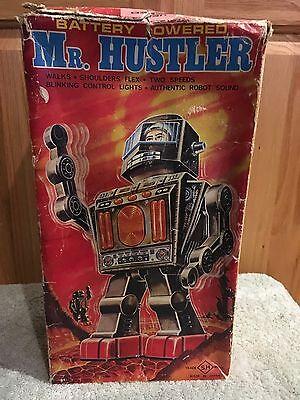 Horikawa SH VERY RARE Original Vintage MR HUSTLER Robot 1971 Tin Astronaut JAPAN