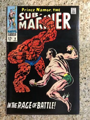 Sub-Mariner #8 - Namor vs Thing - Marvel (1968) - FN!