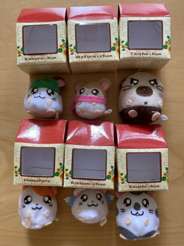 tottoko hamtaro gashapon mini plush house complete set of 6 new from japan rare