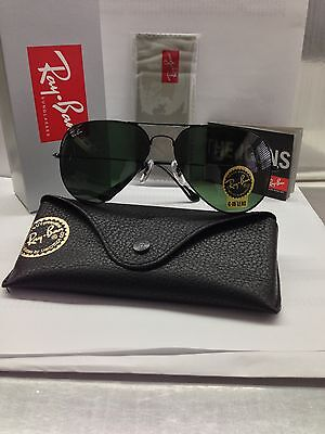 Rayban Large Aviator 3025 BLACK sunglass 100% Authentic on Rummage