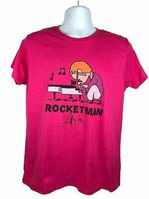 Gilda Ultra Cotton Womens Large Pink Elton John Rocket Man Grahic Print T-Shirt