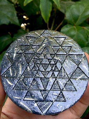 Sri Yantra Sacred Geometry Organite Charging Plate - Powerful Orgone Energy