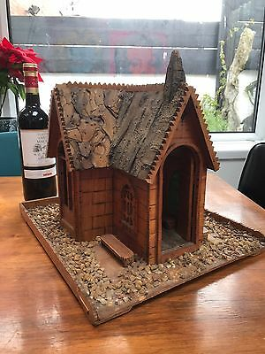 Vintage Tramp Folk Art Chapel Wooden Sculpture Dolls House Trench Naive Diorama