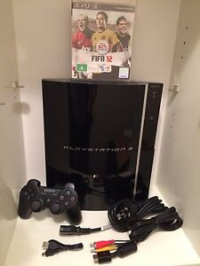 Ps3 Sony PlayStation 3 with wireless controller, cables and games Stanmore Marrickville Area Preview