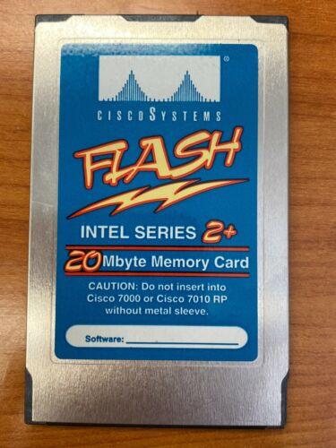 Intel Cisco 7000 7010 7500 RSP1 RSP2 20MB LINEAR Flash PCMCIA Card Series 2+