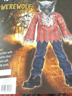 NWT Fun World Boys' Grey Werewolf Halloween Costume, Dress-Up, Play - Grey Werewolf Costume