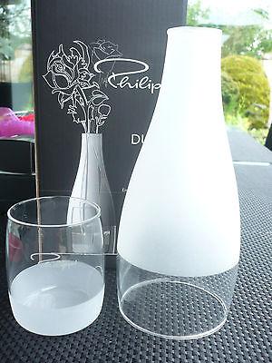 2 Vase (Philippi Design Duett Vase S - Neu Glas 2-teilig Sonderangebot 185002 Geschenk )