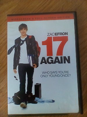 17 AGAIN DVD 2009 ZAC EFRON  Widescreen and Full-screen Edition for sale  Fullerton